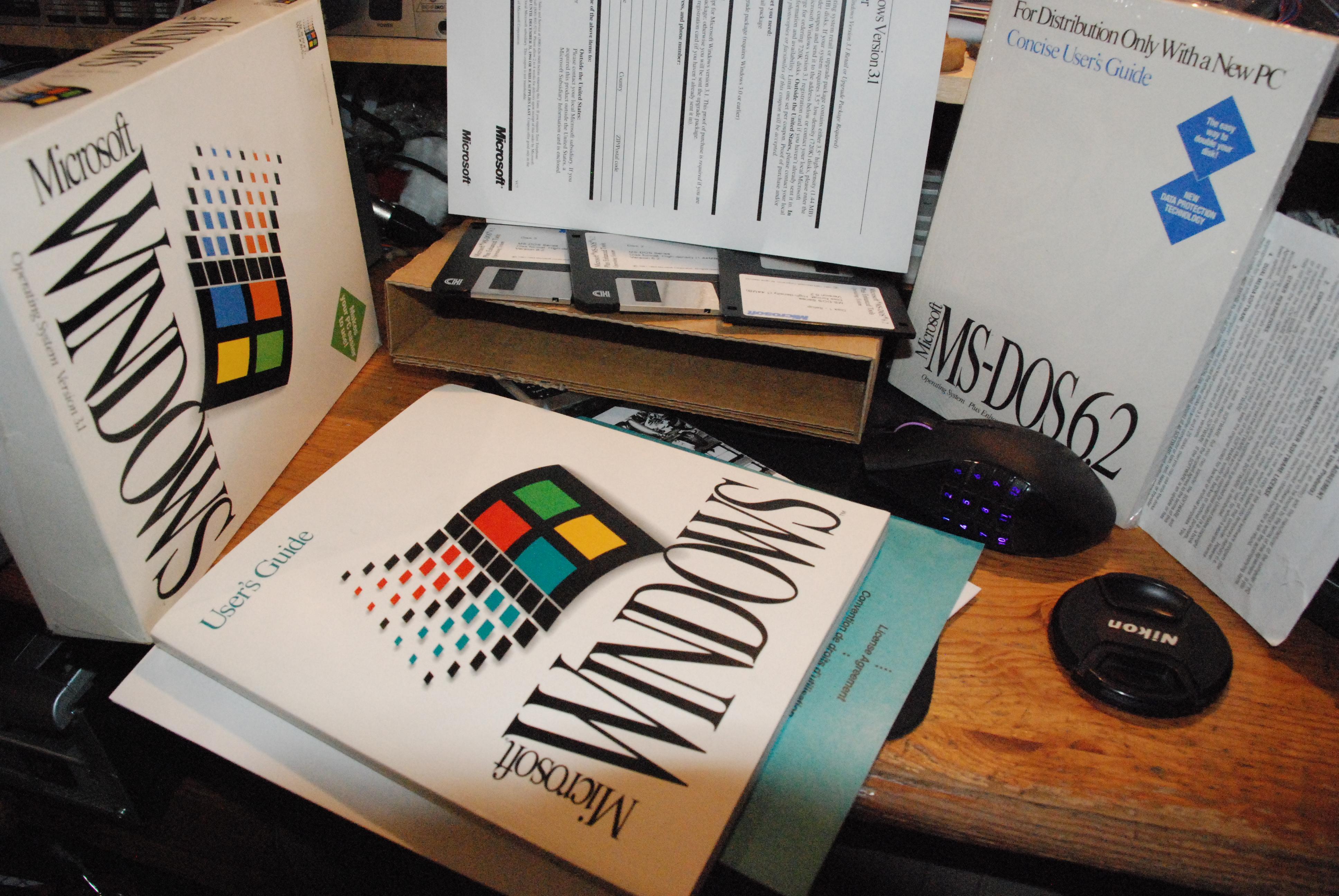 windows 3.1 and msdos 6.2